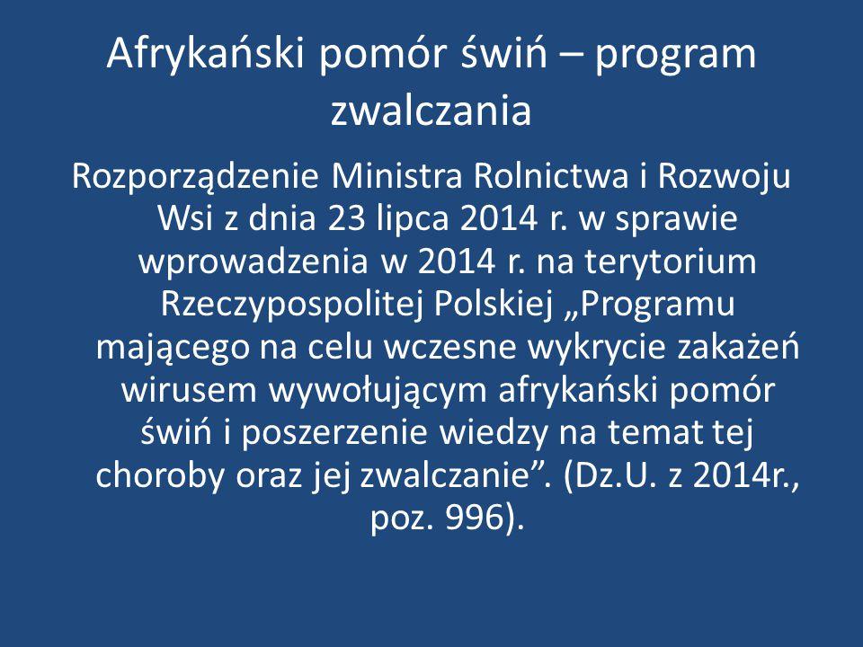 Afrykański pomór świń w Polsce aktualna sytuacja epizootyczna
