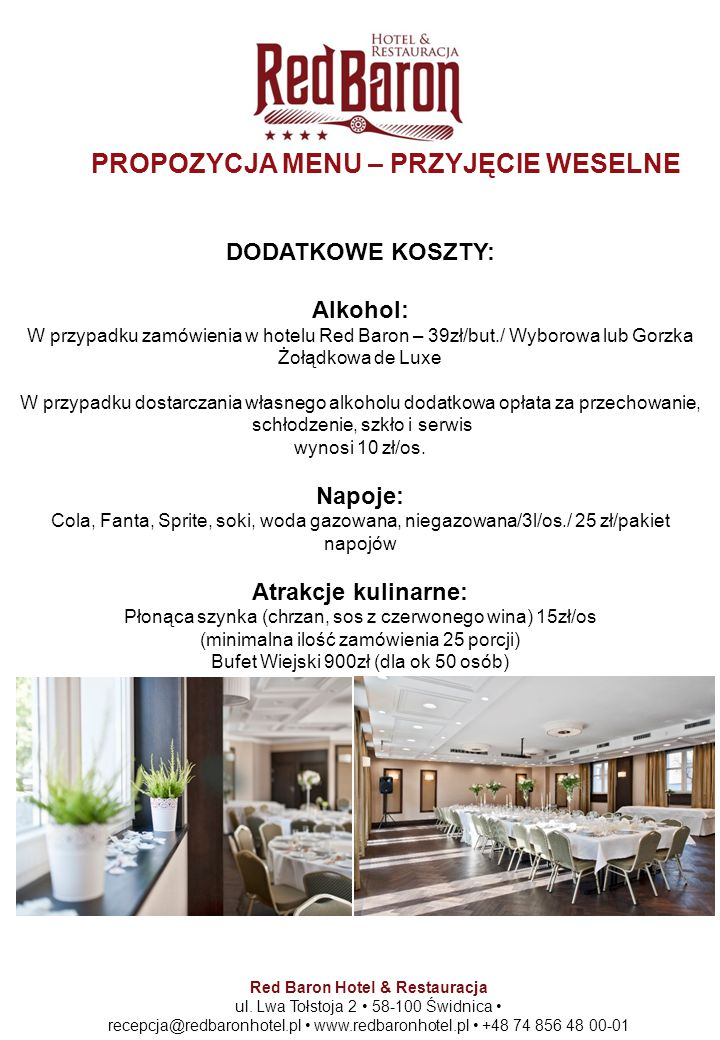Red Baron Hotel & Restauracja ul.