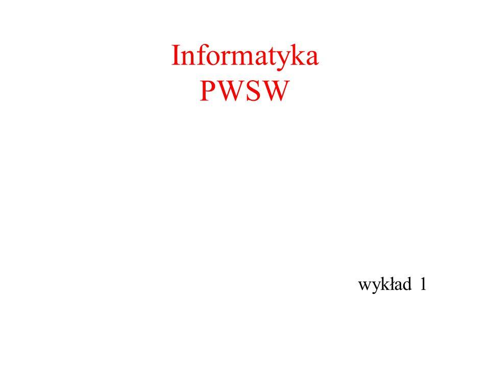 Informatyka PWSW wykład 1