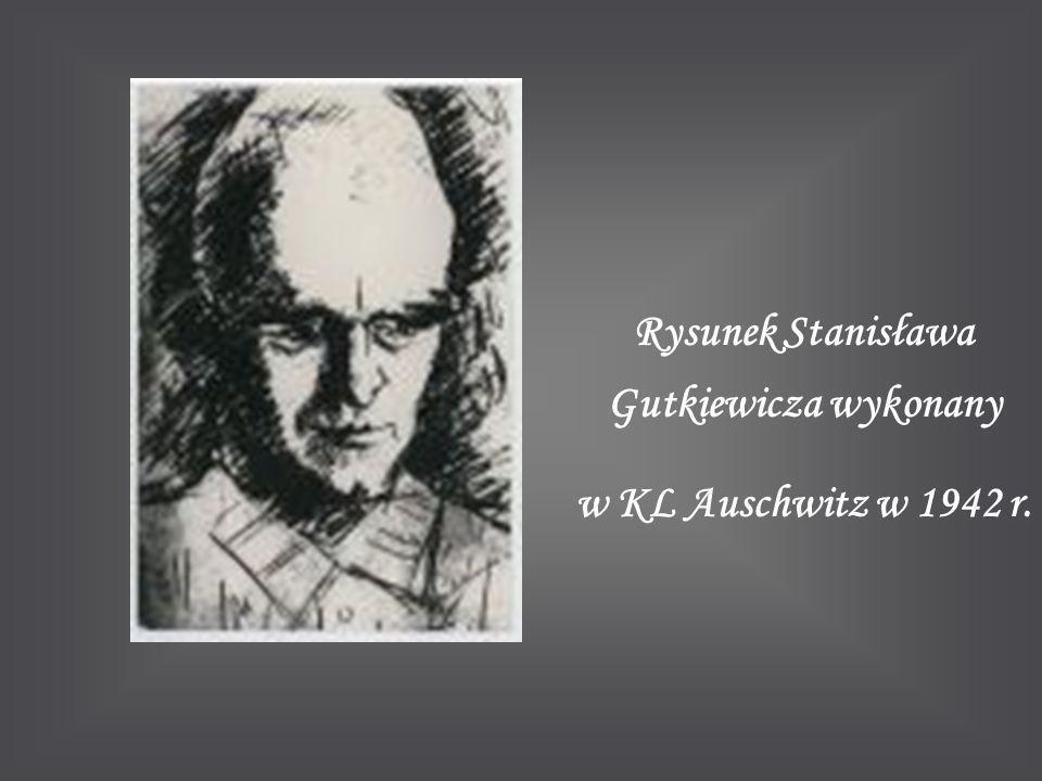 Rysunek Stanisława Gutkiewicza wykonany w KL Auschwitz w 1942 r.