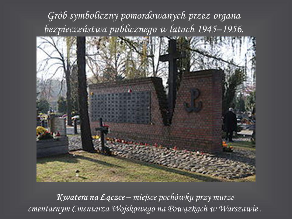 Grób symboliczny pomordowanych przez organa bezpieczeństwa publicznego w latach 1945–1956. Kwatera na Łączce – miejsce pochówku przy murze cmentarnym