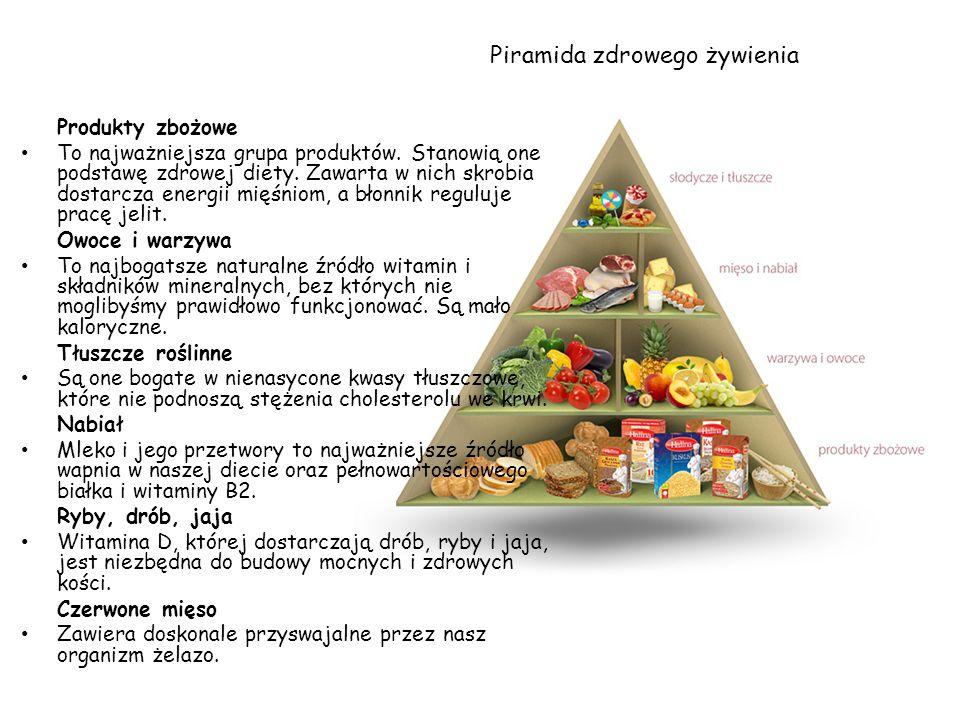 Produkty zbożowe To najważniejsza grupa produktów. Stanowią one podstawę zdrowej diety. Zawarta w nich skrobia dostarcza energii mięśniom, a błonnik r