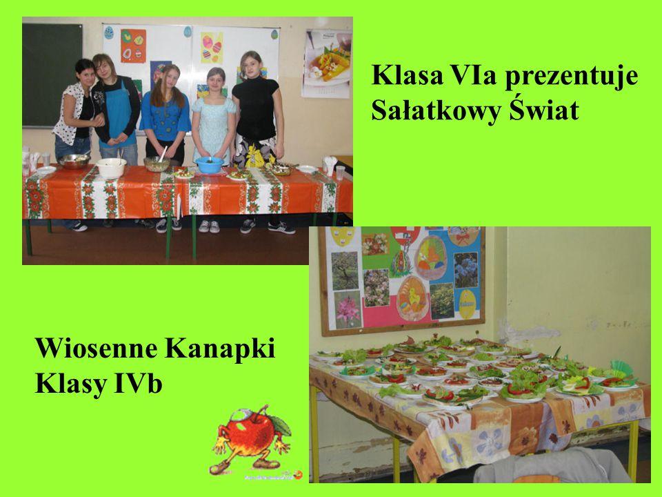 Klasa VIa prezentuje Sałatkowy Świat Wiosenne Kanapki Klasy IVb