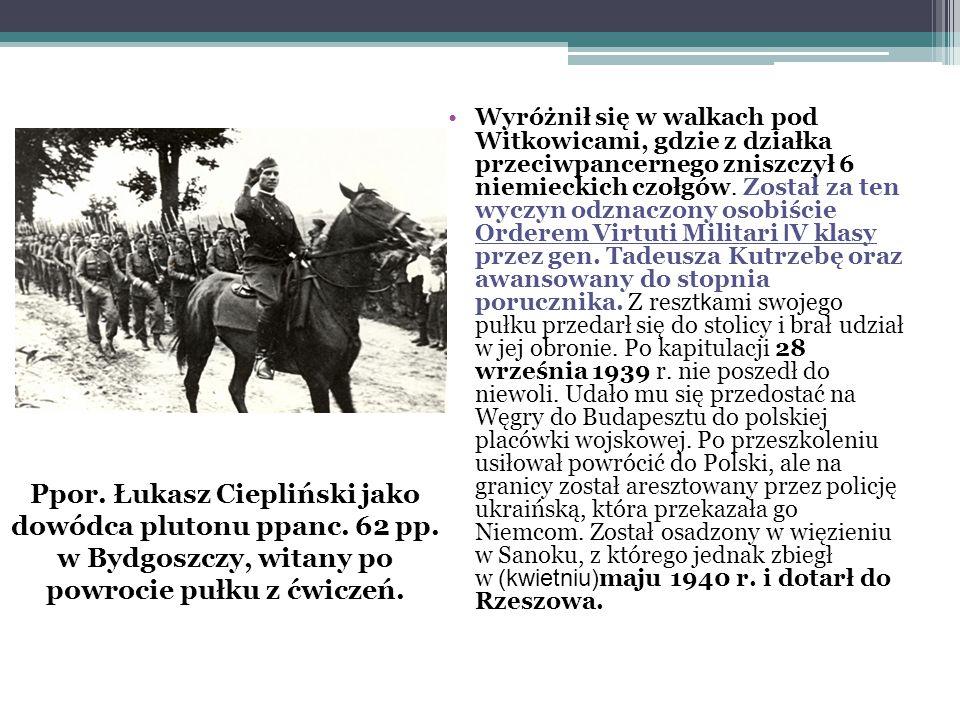 Andrzejku.W trakcie okupacji niemieckiej dowodziłem inspektoratem rzeszowskim.