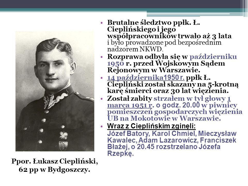 Z relacji przekazanej kilka lat temu przez Ludwika Kubika, bliskiego współpracownika Cieplińskiego z konspiracji, wynika, iż to on wyniósł listy przełożonego z mokotowskiego więzienia.