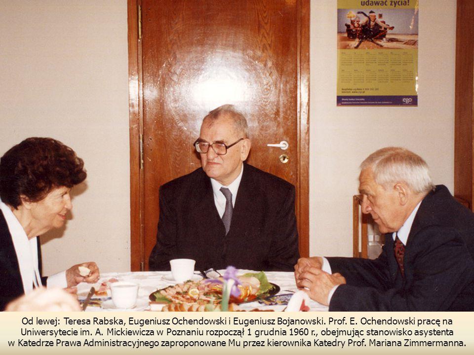 Od lewej: Teresa Rabska, Eugeniusz Ochendowski i Eugeniusz Bojanowski.