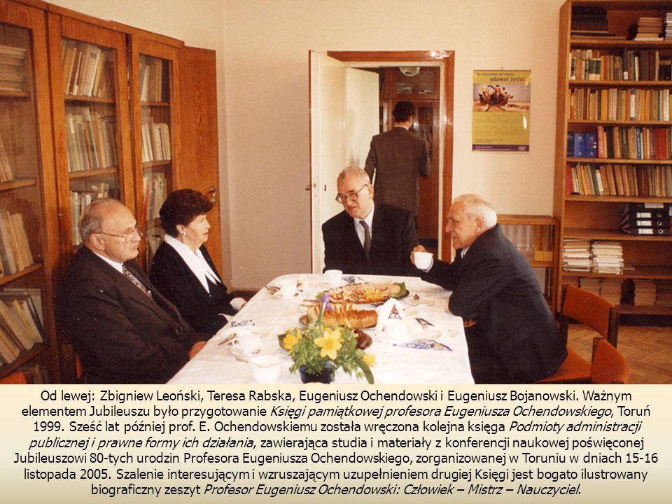 Od lewej: Zbigniew Leoński, Teresa Rabska, Eugeniusz Ochendowski i Eugeniusz Bojanowski.