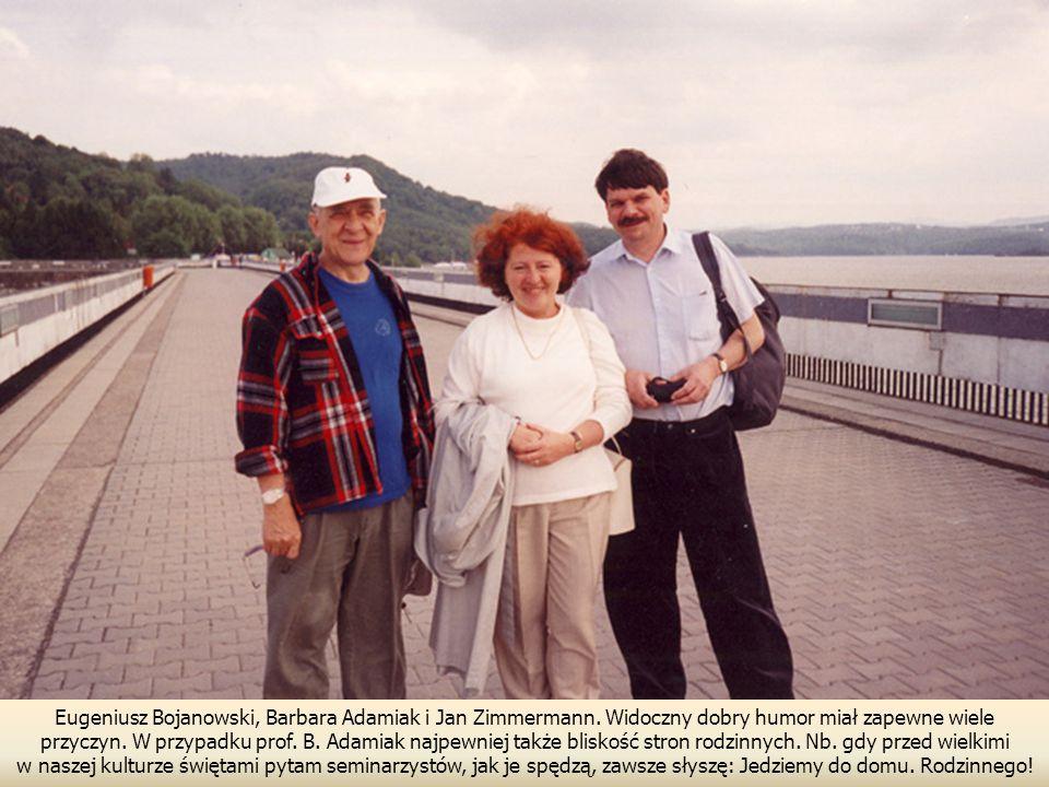 Eugeniusz Bojanowski, Barbara Adamiak i Jan Zimmermann.