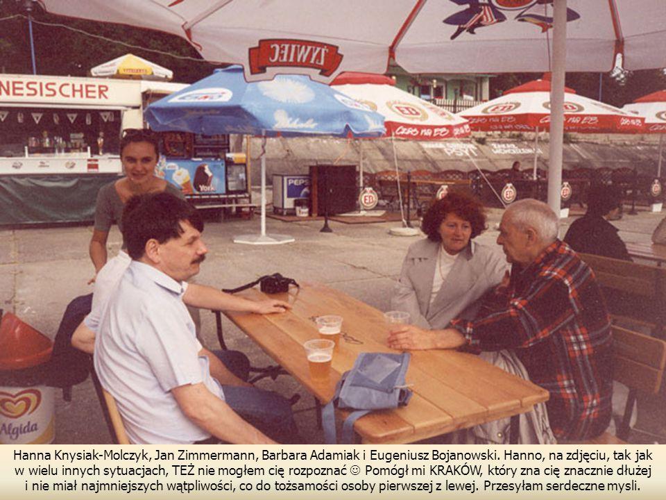 Hanna Knysiak-Molczyk, Jan Zimmermann, Barbara Adamiak i Eugeniusz Bojanowski.