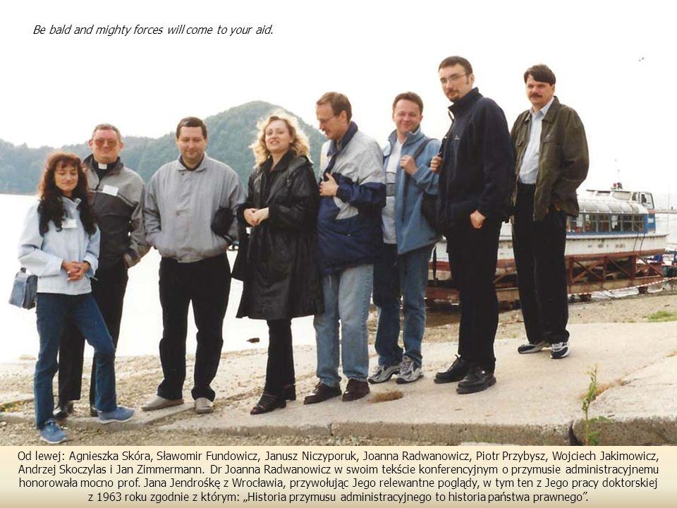 Od lewej: Agnieszka Skóra, Sławomir Fundowicz, Janusz Niczyporuk, Joanna Radwanowicz, Piotr Przybysz, Wojciech Jakimowicz, Andrzej Skoczylas i Jan Zimmermann.