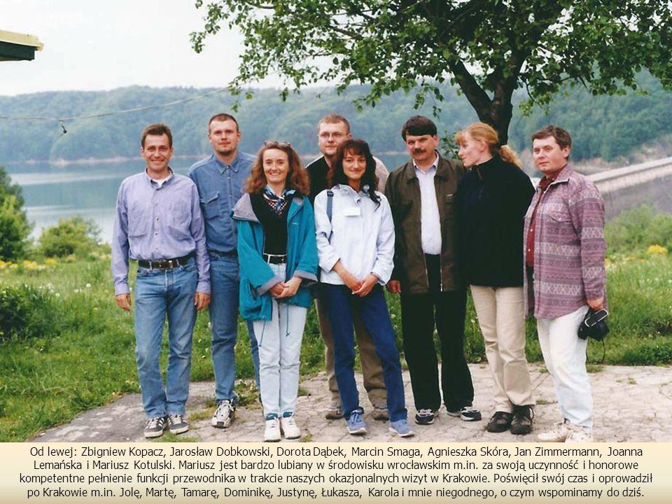 Od lewej: Zbigniew Kopacz, Jarosław Dobkowski, Dorota Dąbek, Marcin Smaga, Agnieszka Skóra, Jan Zimmermann, Joanna Lemańska i Mariusz Kotulski.