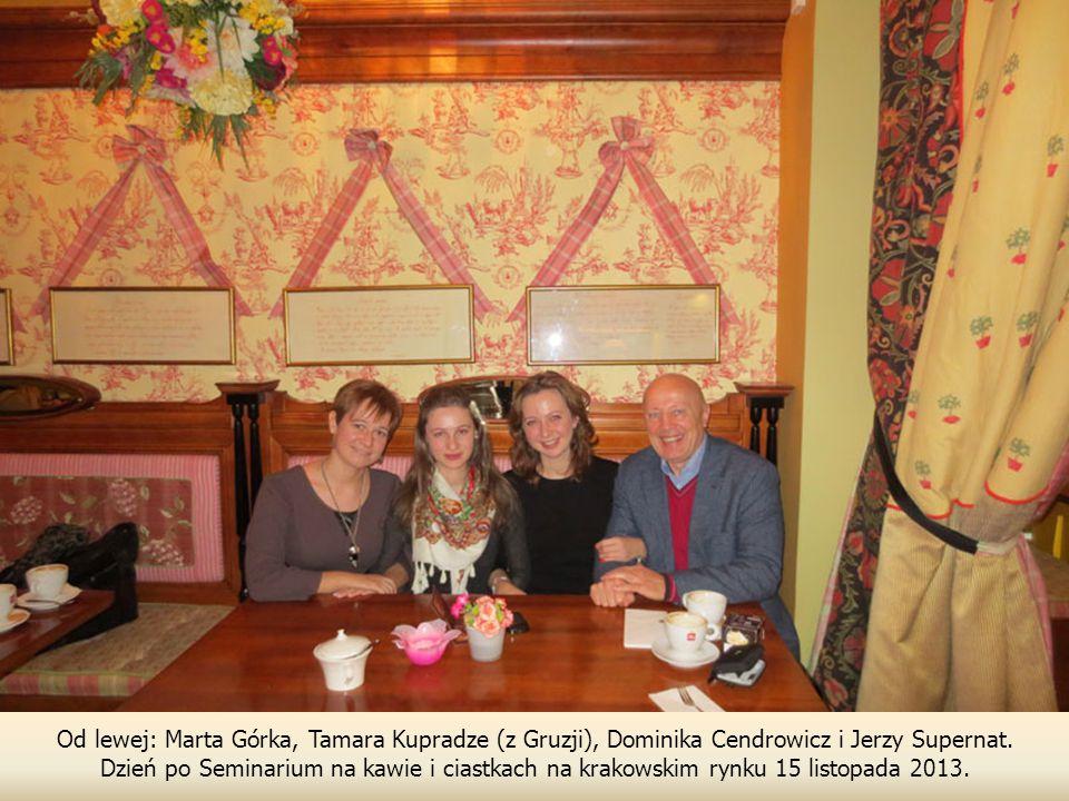 Od lewej: Marta Górka, Tamara Kupradze (z Gruzji), Dominika Cendrowicz i Jerzy Supernat.
