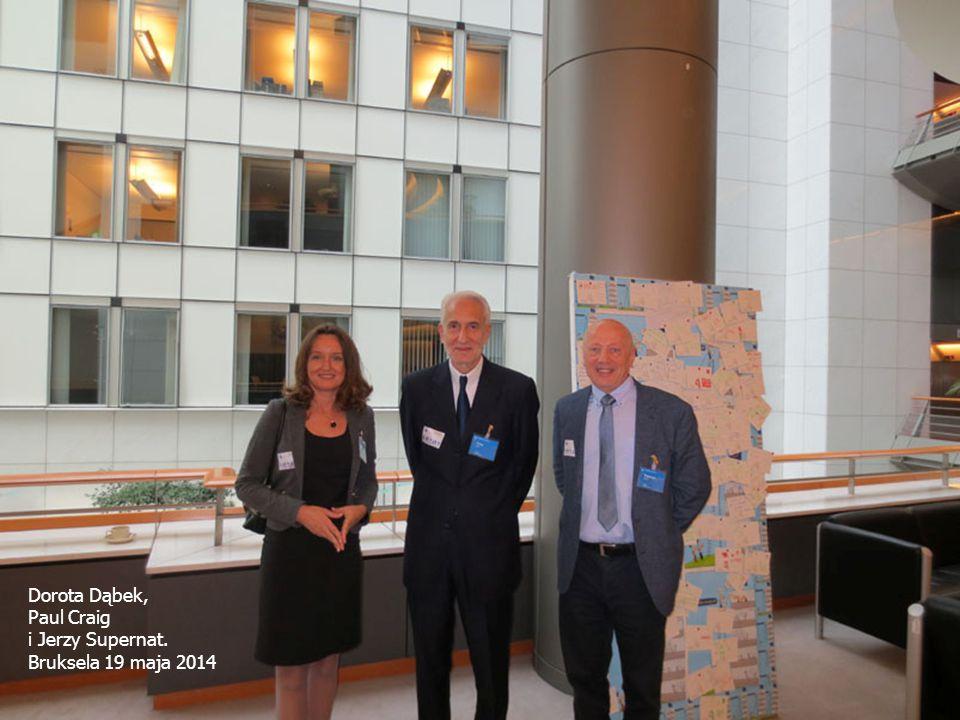 Dorota Dąbek, Paul Craig i Jerzy Supernat. Bruksela 19 maja 2014