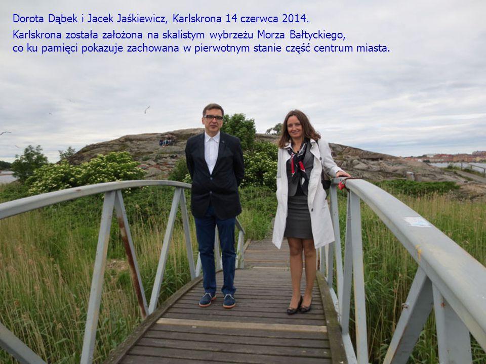 Dorota Dąbek i Jacek Jaśkiewicz, Karlskrona 14 czerwca 2014.