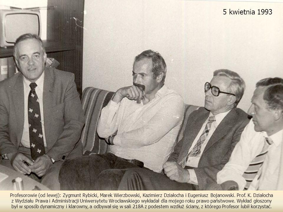 Profesorowie (od lewej): Zygmunt Rybicki, Marek Wierzbowski, Kazimierz Działocha i Eugeniusz Bojanowski.