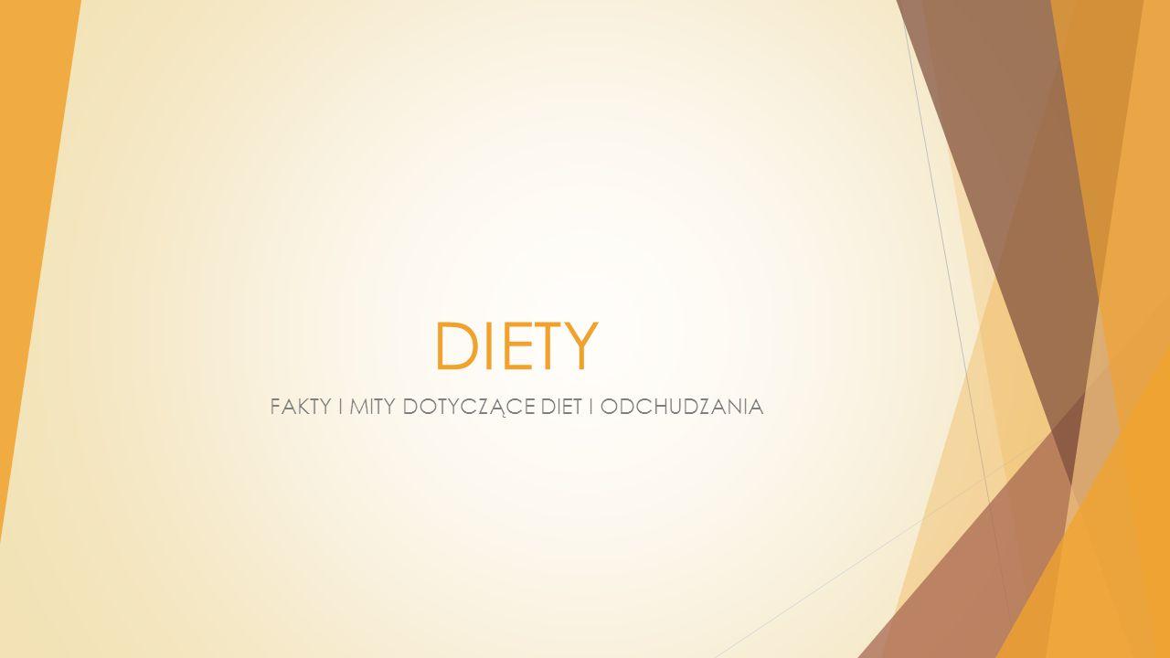 DIETY FAKTY I MITY DOTYCZĄCE DIET I ODCHUDZANIA
