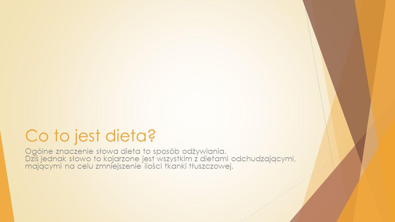Co to jest dieta? Ogólne znaczenie słowa dieta to sposób odżywiania. Dziś jednak słowo to kojarzone jest wszystkim z dietami odchudzającymi, mającymi