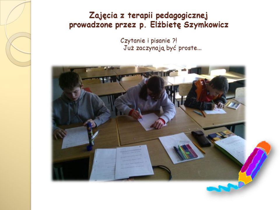 Zajęcia z terapii pedagogicznej prowadzone przez p.