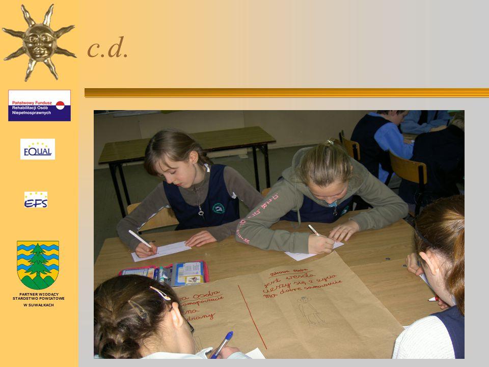 Realizacja zajęć edukacyjno – warsztatowych – w szkole podstawowej (IV - VI) PARTNER WIODĄCY STAROSTWO POWIATOWE W SUWAŁKACH