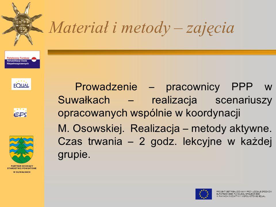 """Materiał i metody – wykład """"Człowiek chory psychicznie, jego powrót do zdrowia zależy od wrażliwości i akceptacji każdego za nas – prezentacja lek."""
