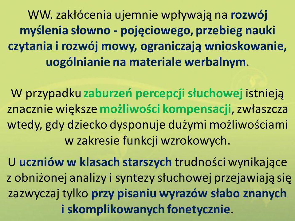 Podobieństwo między wyrazami: a) Dziecko otrzymuje kartoniki z wyrazami czteroliterowymi.
