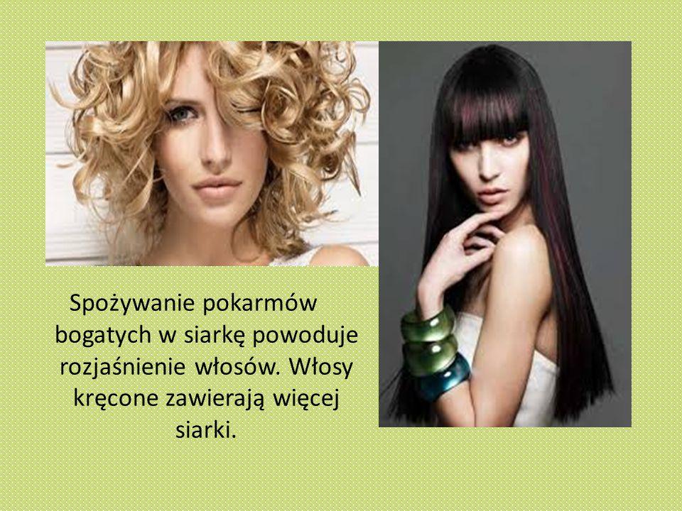 Spożywanie pokarmów bogatych w siarkę powoduje rozjaśnienie włosów.