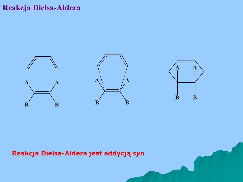 Reakcja Dielsa-Aldera Reakcja Dielsa-Aldera jest addycją syn