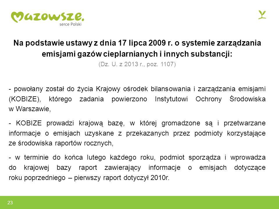 Na podstawie ustawy z dnia 17 lipca 2009 r.