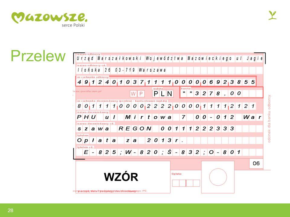 Przelew 28 WZÓR
