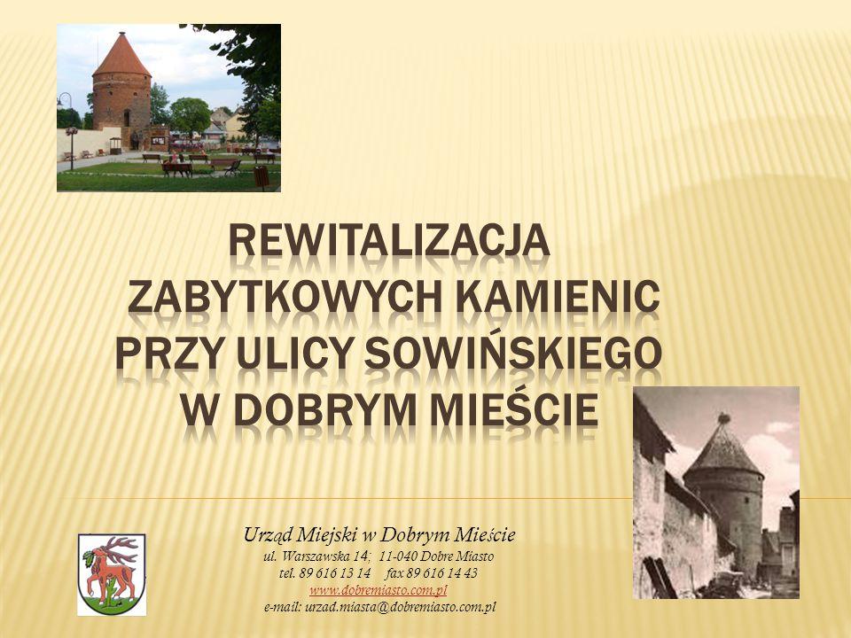Urz ą d Miejski w Dobrym Mie ś cie ul. Warszawska 1 4; 11-040 Dobre Miasto tel.
