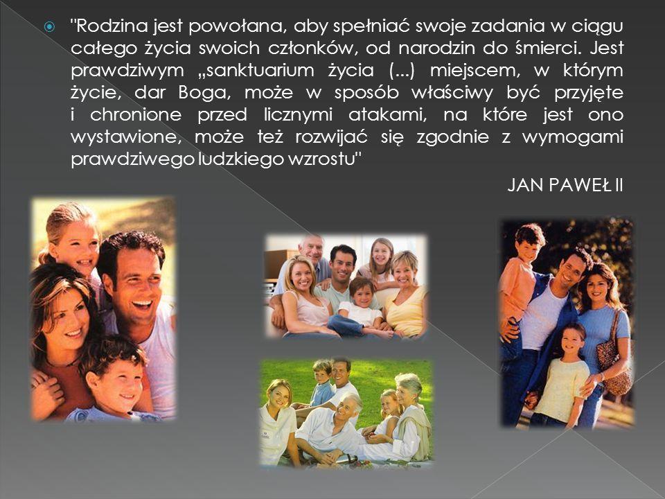  Rodzina jest powołana, aby spełniać swoje zadania w ciągu całego życia swoich członków, od narodzin do śmierci.