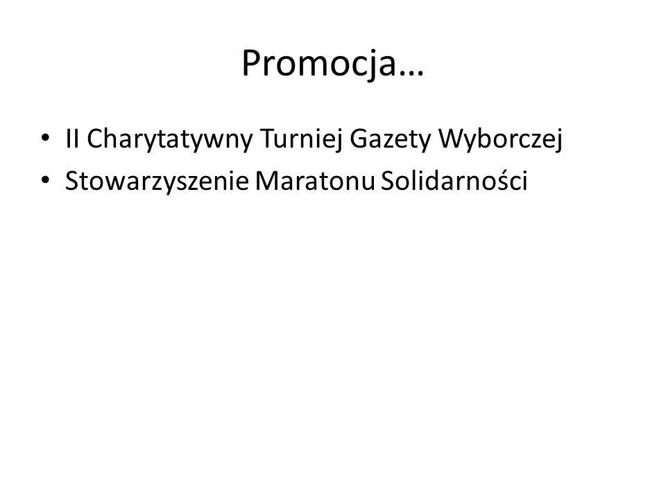 Promocja… II Charytatywny Turniej Gazety Wyborczej Stowarzyszenie Maratonu Solidarności