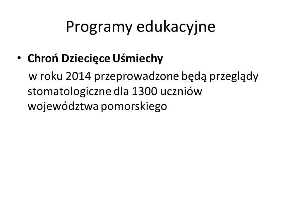 Programy edukacyjne Chroń Dziecięce Uśmiechy w roku 2014 przeprowadzone będą przeglądy stomatologiczne dla 1300 uczniów województwa pomorskiego
