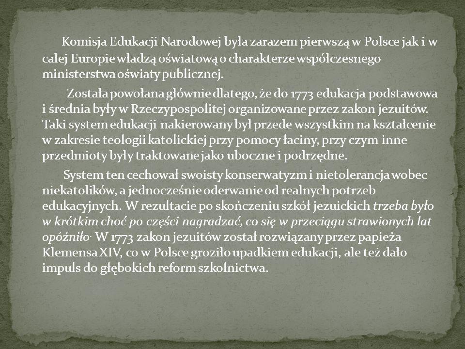 Komisja powstała formalnie na mocy uchwały Sejmu z 14 października 1773.