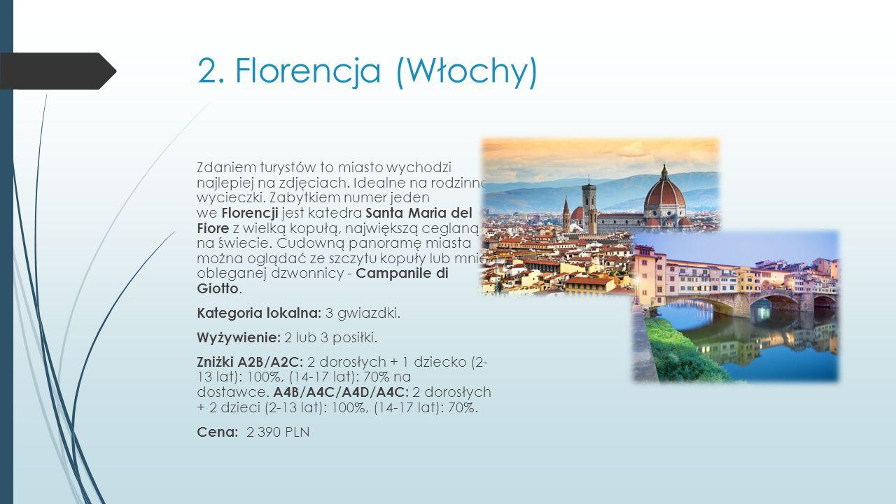 2.Florencja (Włochy) Zdaniem turystów to miasto wychodzi najlepiej na zdjęciach.