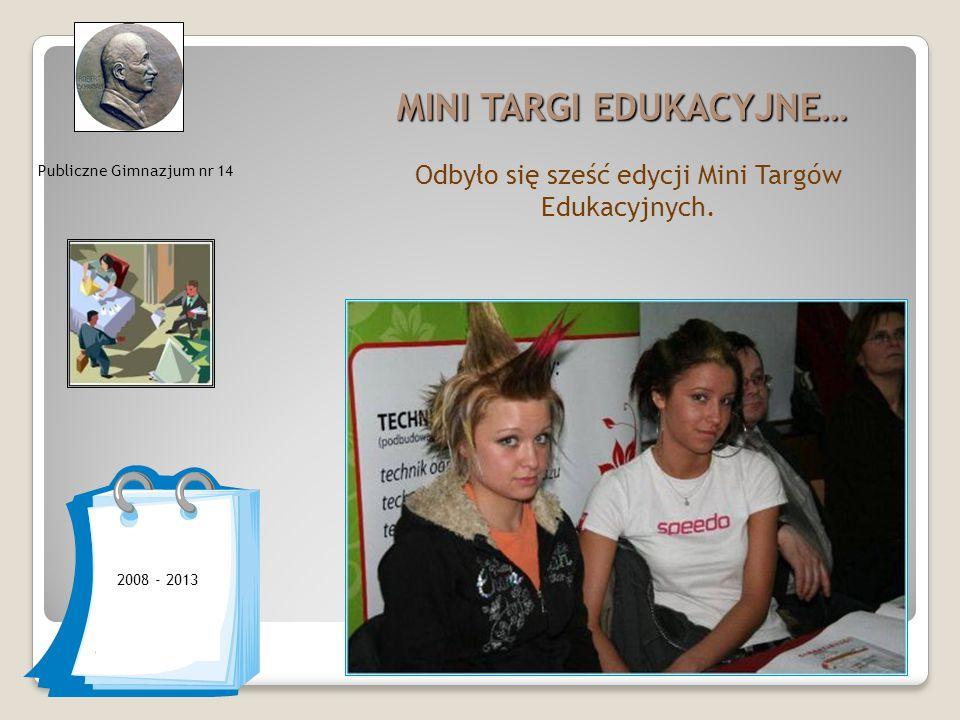 MINI TARGI EDUKACYJNE… Odbyło się sześć edycji Mini Targów Edukacyjnych.