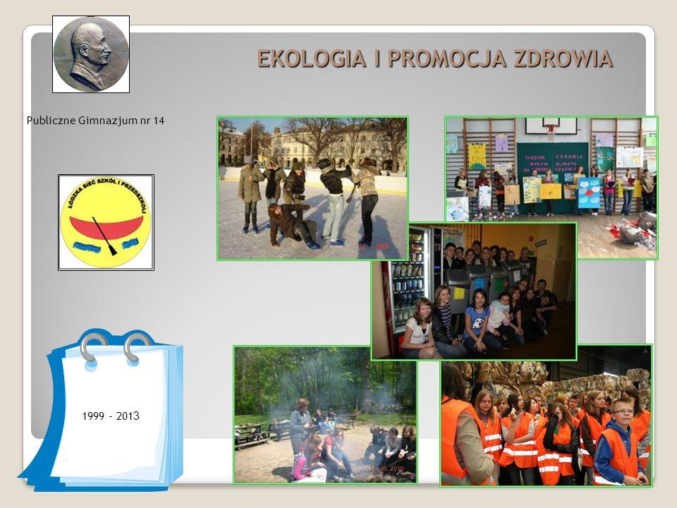 Publiczne Gimnazjum nr 14 EKOLOGIA I PROMOCJA ZDROWIA 1999 - 201 3
