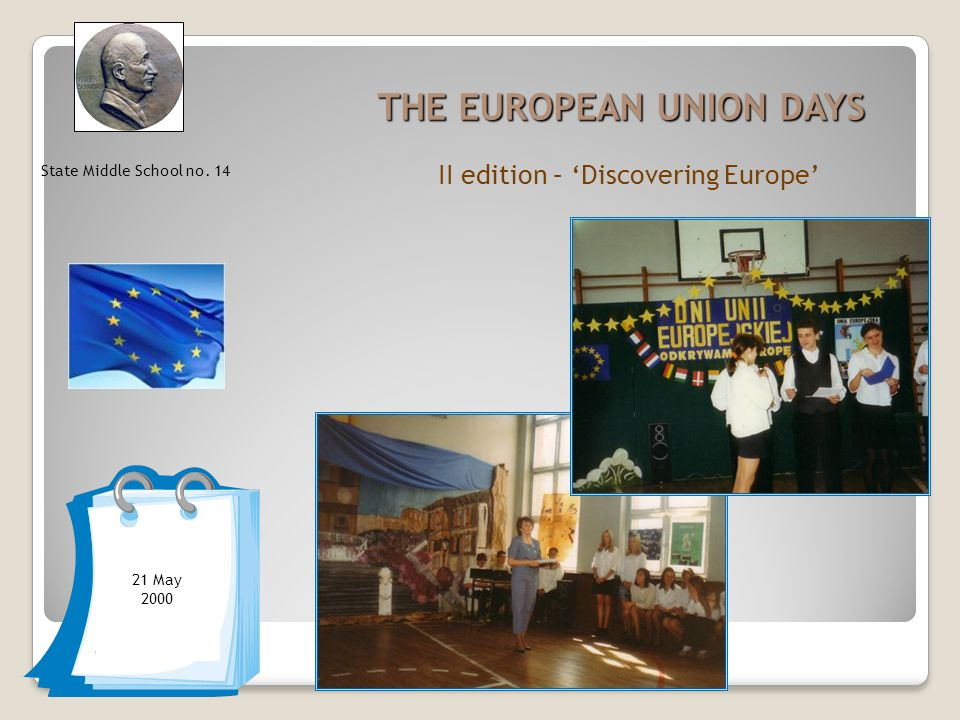 THE EUROPEAN UNION DAYS II edition – 'Discovering Europe' State Middle School no. 14 21 May 2000