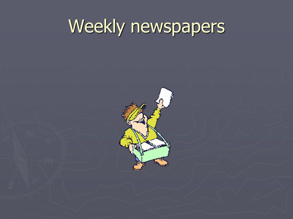 Weekly newspapers