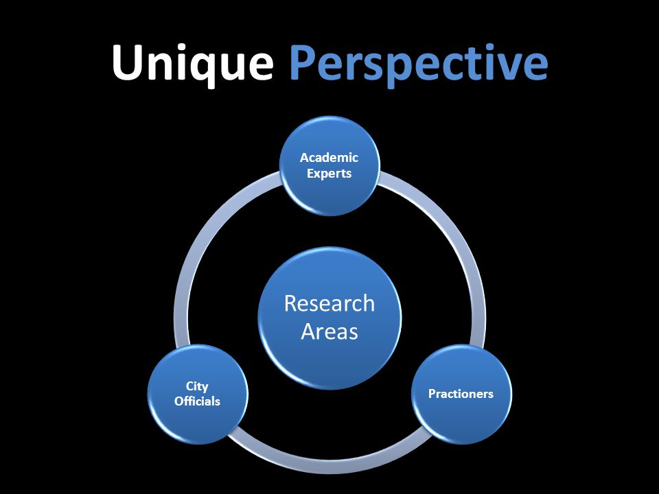 Unique Perspective Research Areas Academic Experts Practioners City Officials