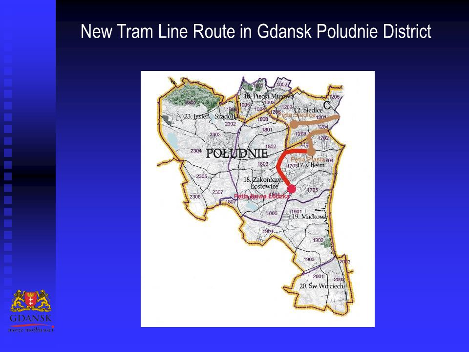New Tram Line Route in Gdansk Poludnie District