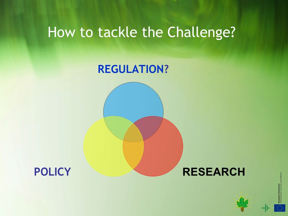 How to tackle the Challenge REGULATION RESEARCH POLICY