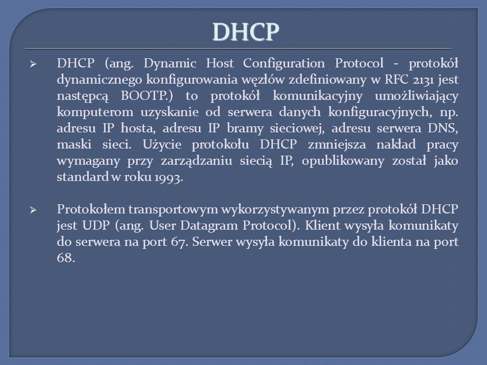 DHCP DHCP (ang.