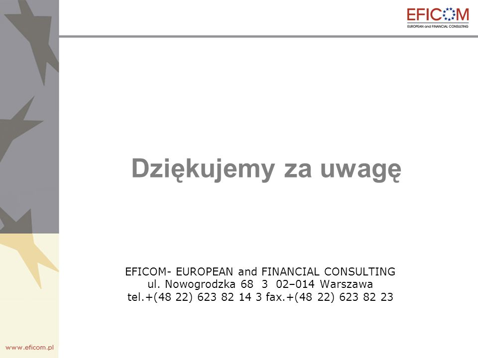 EFICOM- EUROPEAN and FINANCIAL CONSULTING ul.