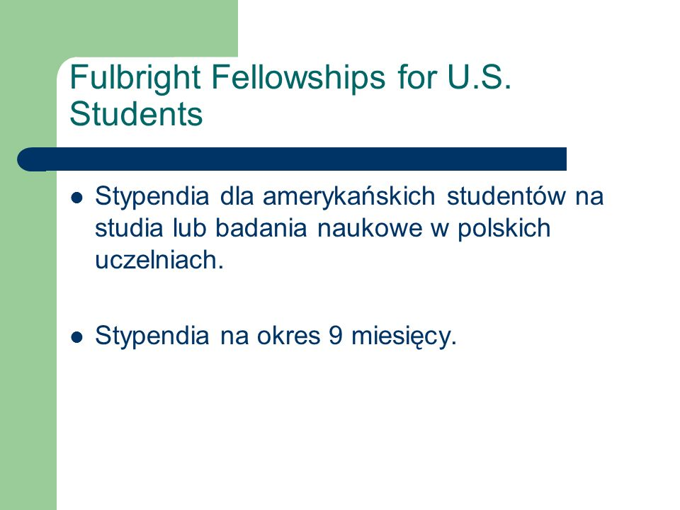 Fulbright Fellowships for U.S.
