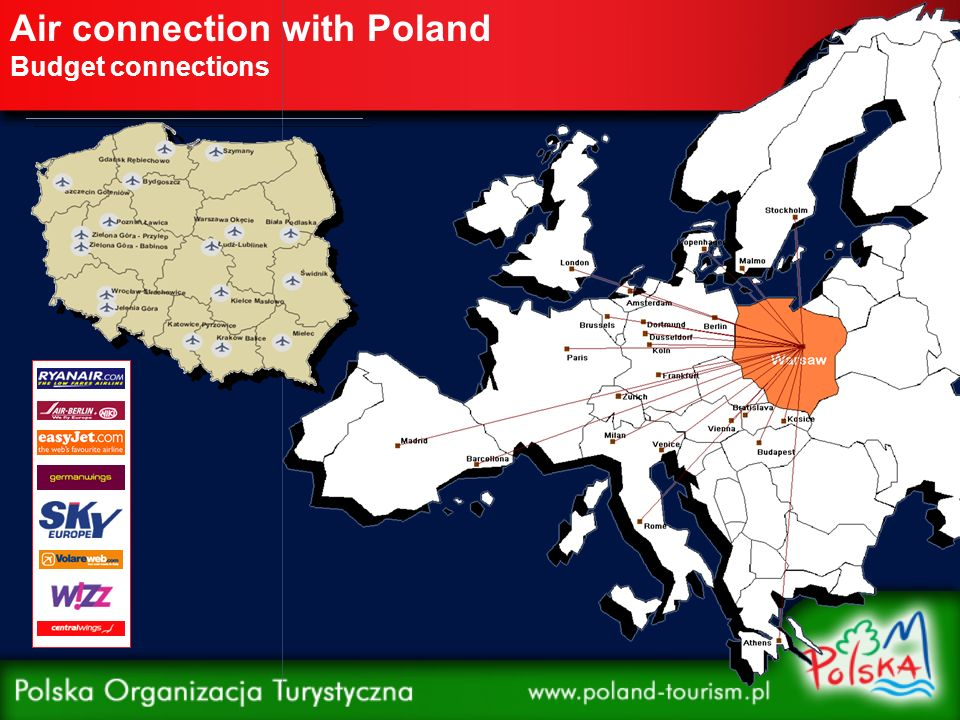 Air connection with Poland Budget connections