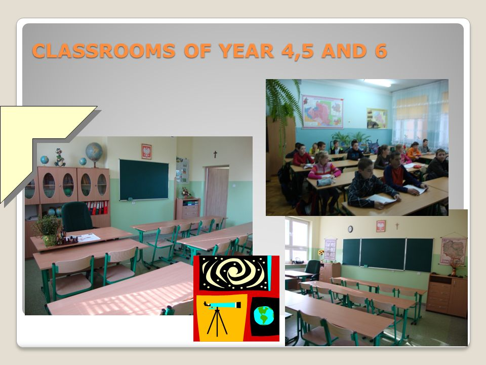 CLASSROOMS OF YEAR 4,5 AND 6