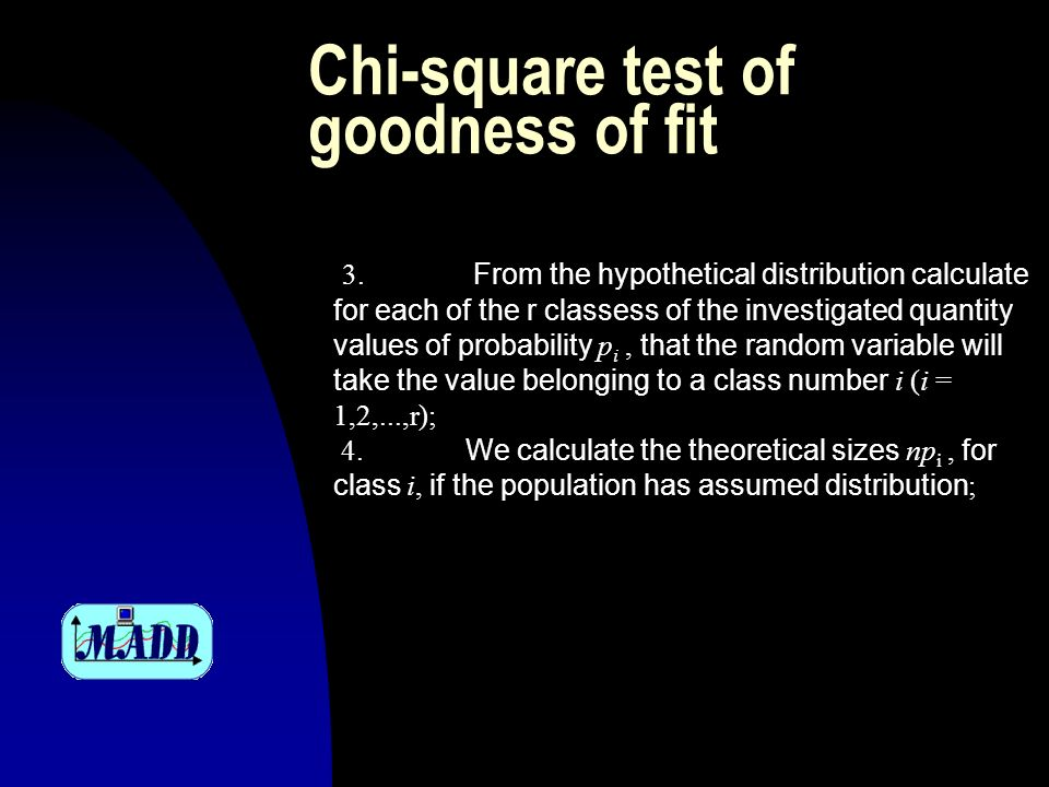 Chi-square test of goodness of fit 3.