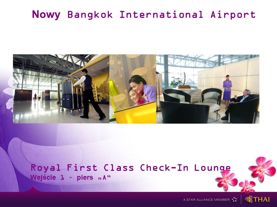 Nowy Bangkok International Airport Royal First Class Check-In Lounge Wejście 1 – piers A