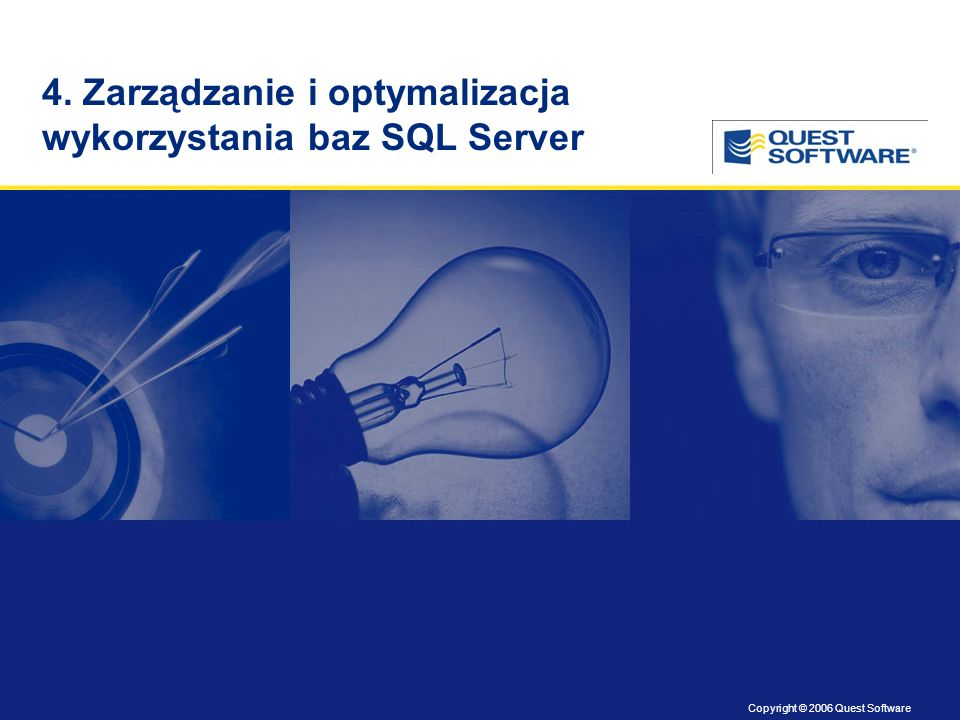 Copyright © 2006 Quest Software Title slide Copyright: 8 pt.